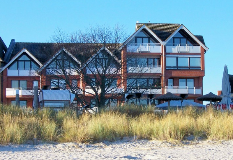 Haus von außen vom Strand